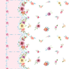 French Country - Floral and Pink Border