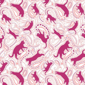 Paisley Cats - Large