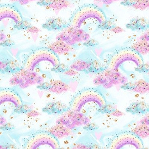 Smaller sized-Glitter Rainbows and Clouds