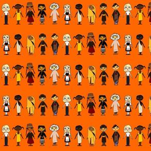 Multicultural_Children_Row_Orange_background_4