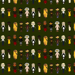 Multicultural_Children_Row_Green_background_4