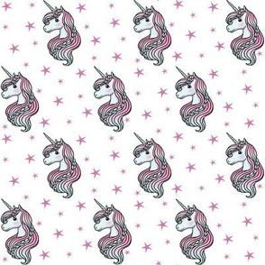 unicorn- white & hot pink - SMALL