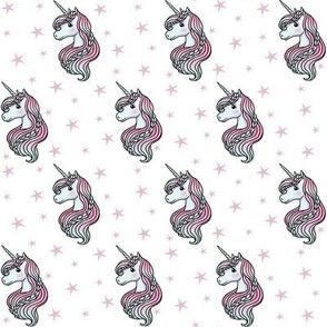 unicorn- white & light pink - SMALL