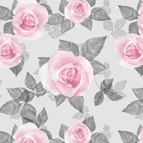 Roses on gray