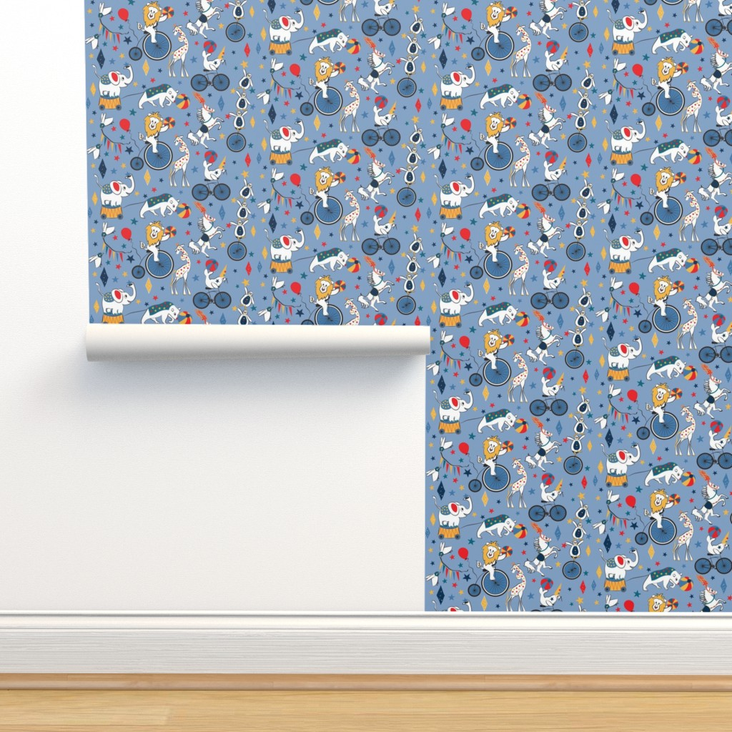 Isobar Durable Wallpaper featuring Circus Cycle Parade by colour_angel_by_kv