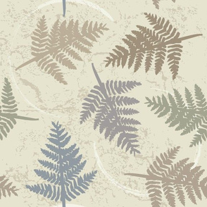 fern leaves, small