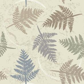 fern leaves medium scale