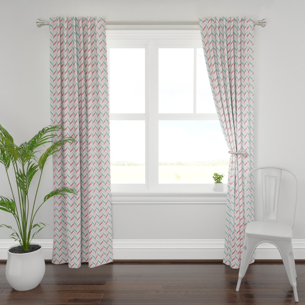 Plymouth Curtain Panel featuring dahlia garden flowers silver by colorofmagic