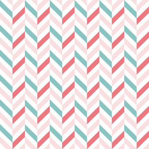 zigzag chevron pink on white small scale