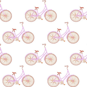 """Pi-cycle in red, orange and hot pink (6""""_"""