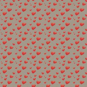 Floating Hearts, Heart Balloons, gray