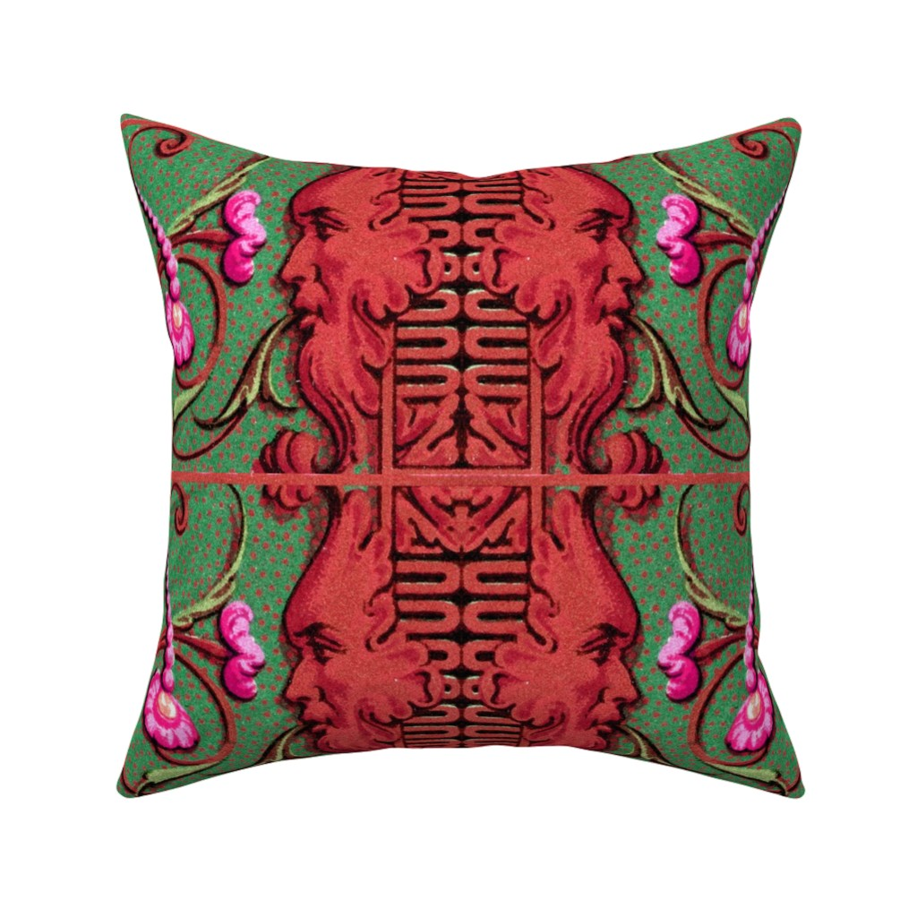 Catalan Throw Pillow featuring 17eme siecle 124 by hypersphere
