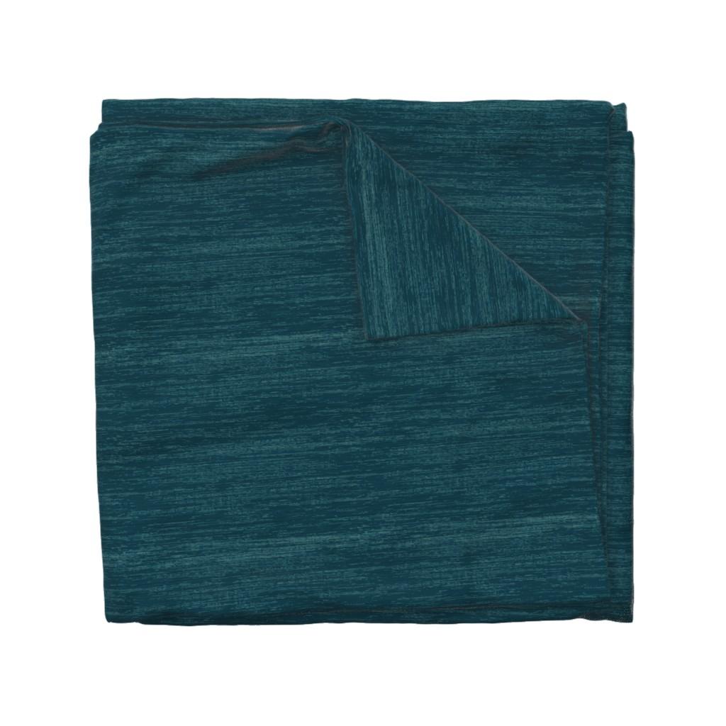 Wyandotte Duvet Cover featuring Deep Blue Linen by sarah_treu