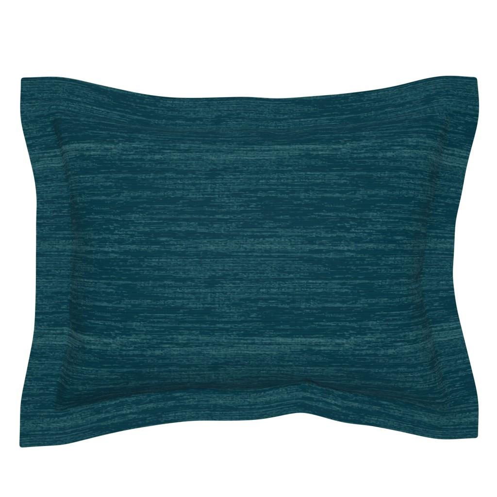 Sebright Pillow Sham featuring Deep Blue Linen by sarah_treu