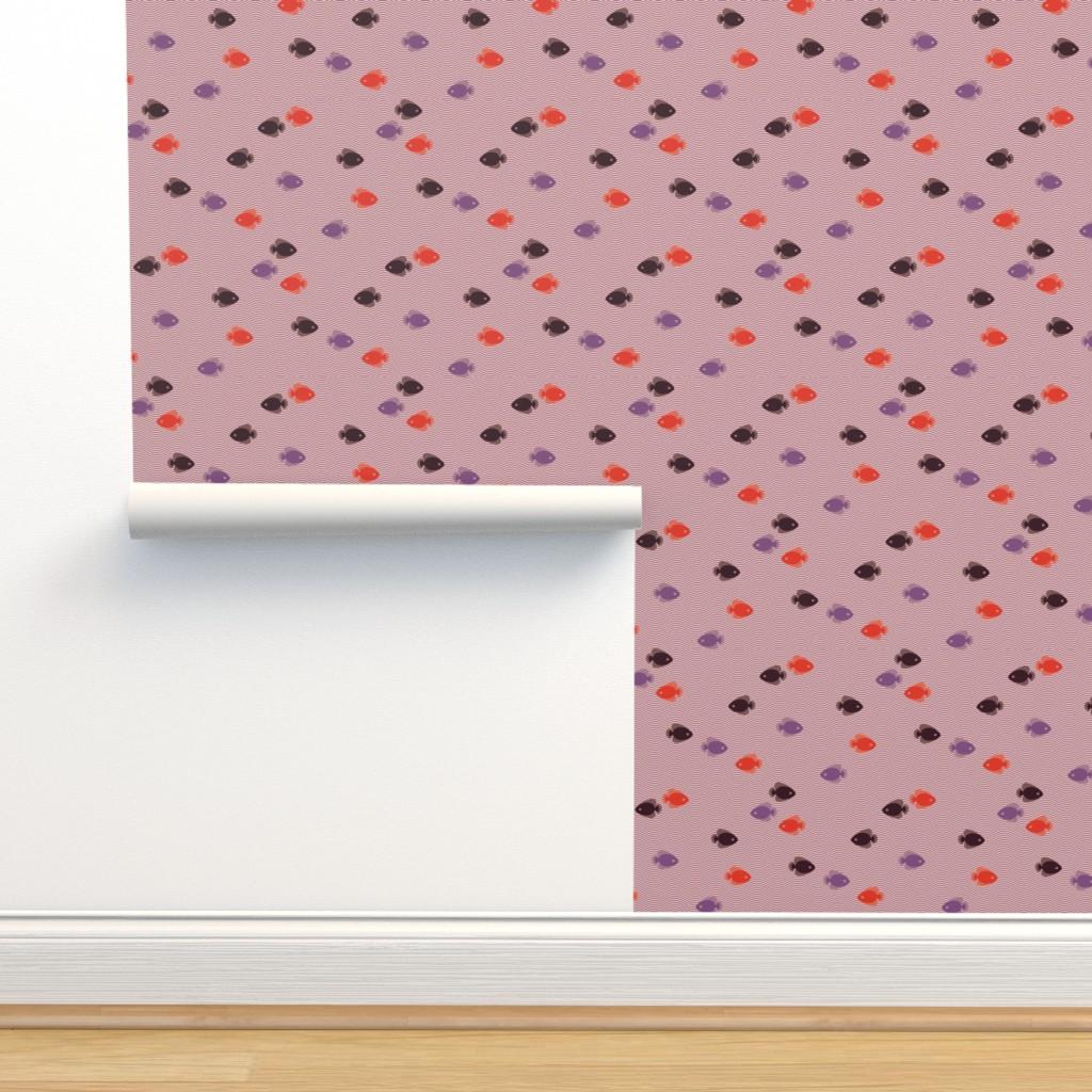 Isobar Durable Wallpaper featuring Vintage Matchbox Fish - Violetwave C by siya