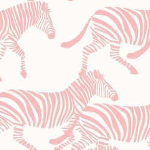 zebras in light pink