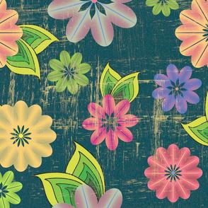 Flower pattern (blue)