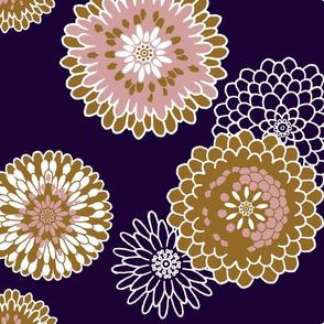 Chrysanthemums Warm Tones