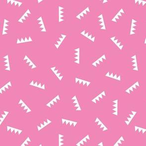 Geometric summer abstract royal crown triangle ridge shape design pink girls
