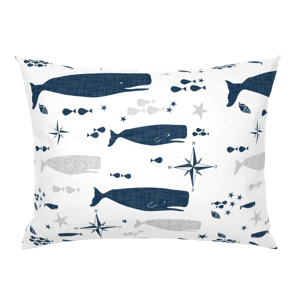 Campine Pillow Sham featuring Sperm Whale by bruxamagica