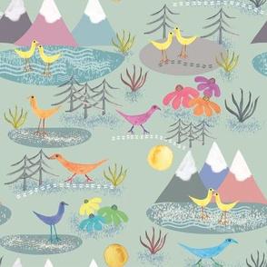 Meandering birds, by Susanne Mason
