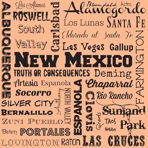 New Mexico cities, clay