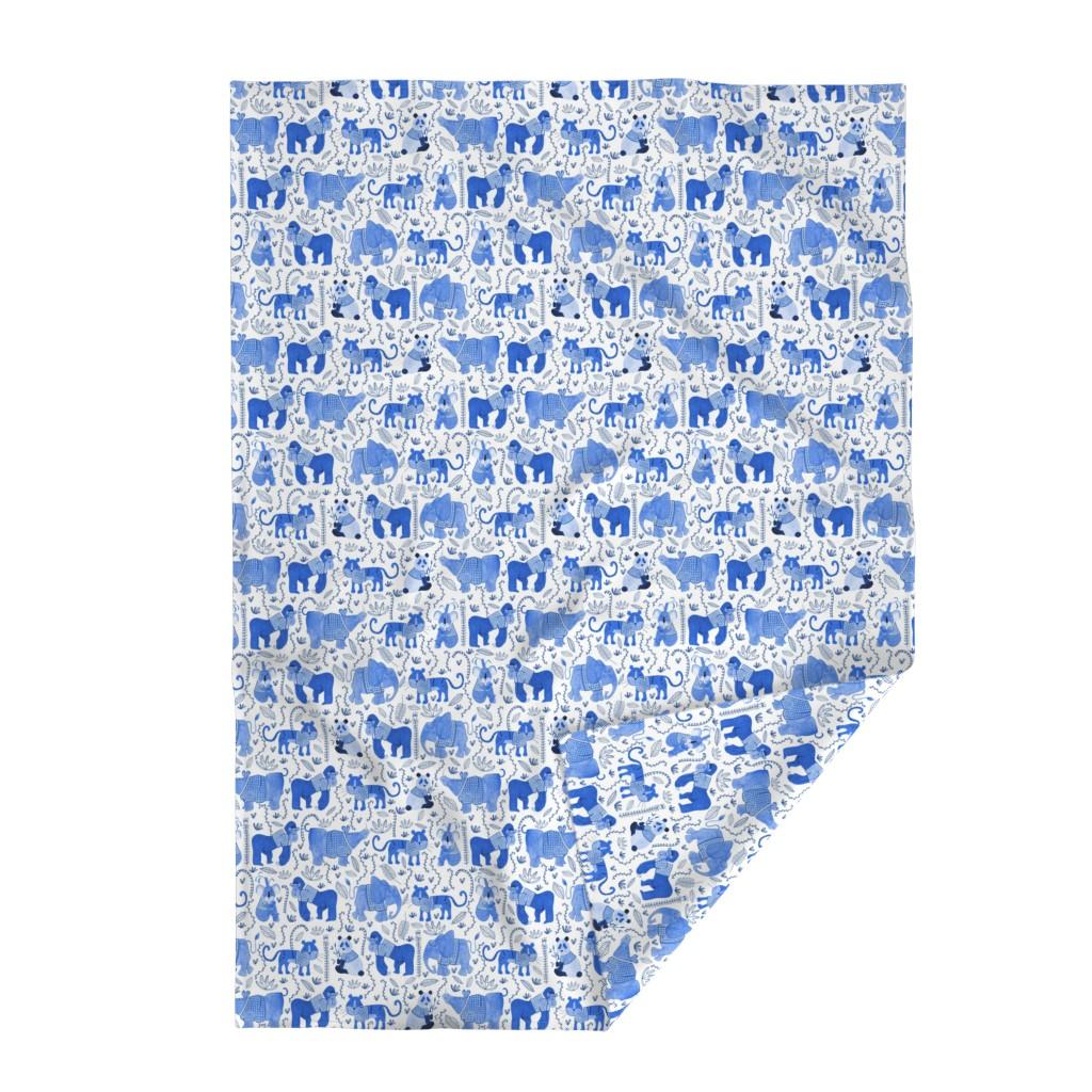 Lakenvelder Throw Blanket featuring Pattern #80 - Endangered animals in shirts by irenesilvino