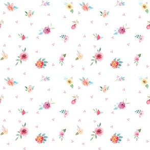 French Country Flowers and Pink Dots