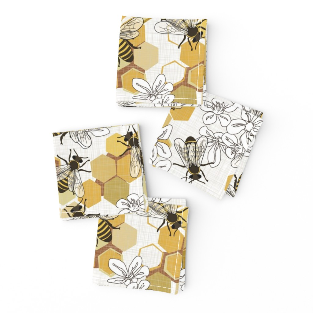 Frizzle Cocktail Napkins featuring Save The Honey Bees - New by fernlesliestudio