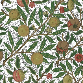 Fruit ~ William Morris ~ Original on White