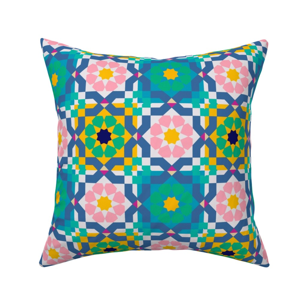 Catalan Throw Pillow featuring The Beauty of Marrakesh  by krystalsavage
