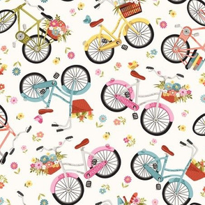 Flowery bicycles