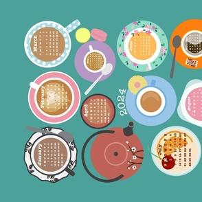 Cups! New Edition 2021 Calendar Tea Towel