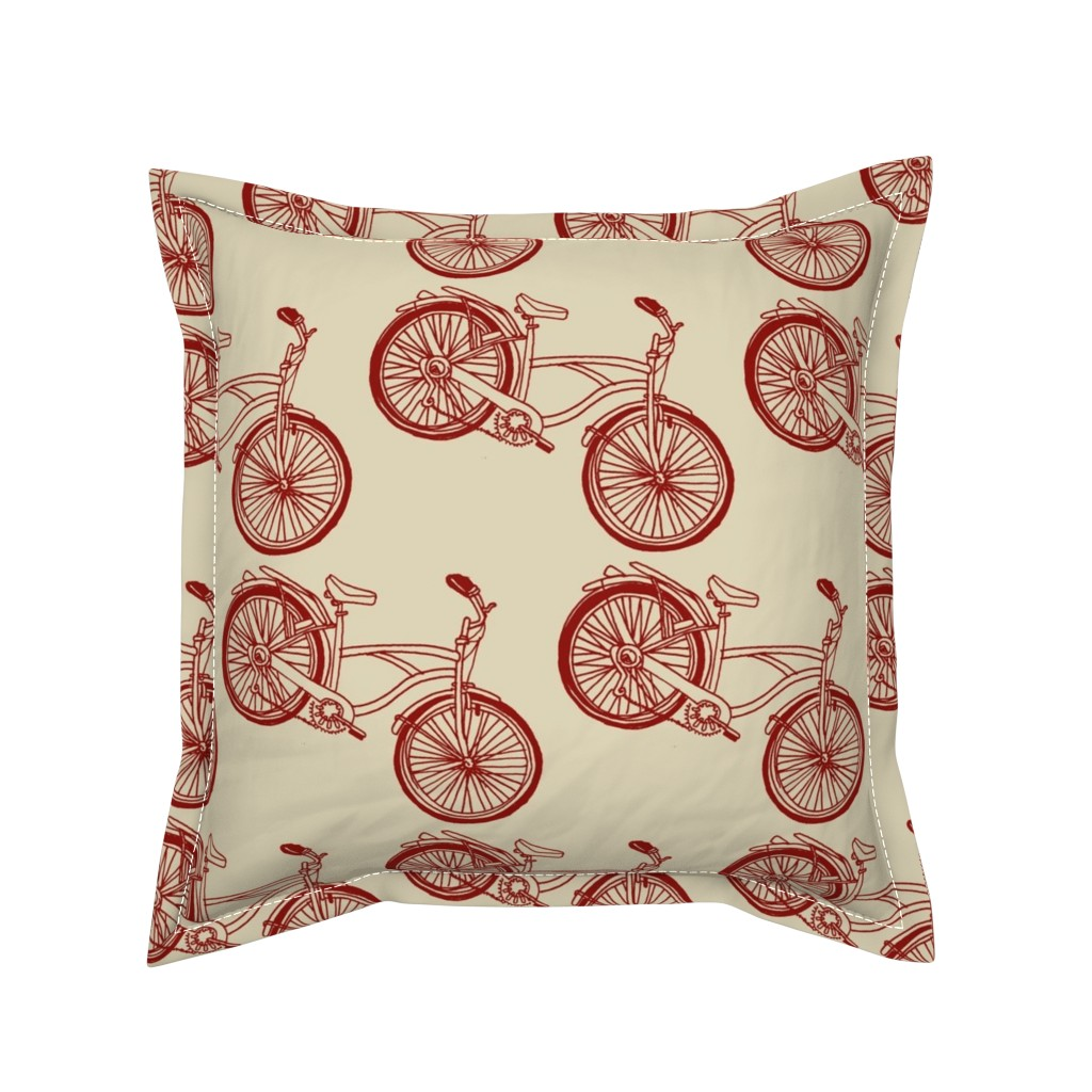 Serama Throw Pillow featuring B is For Bicycle by edsel2084