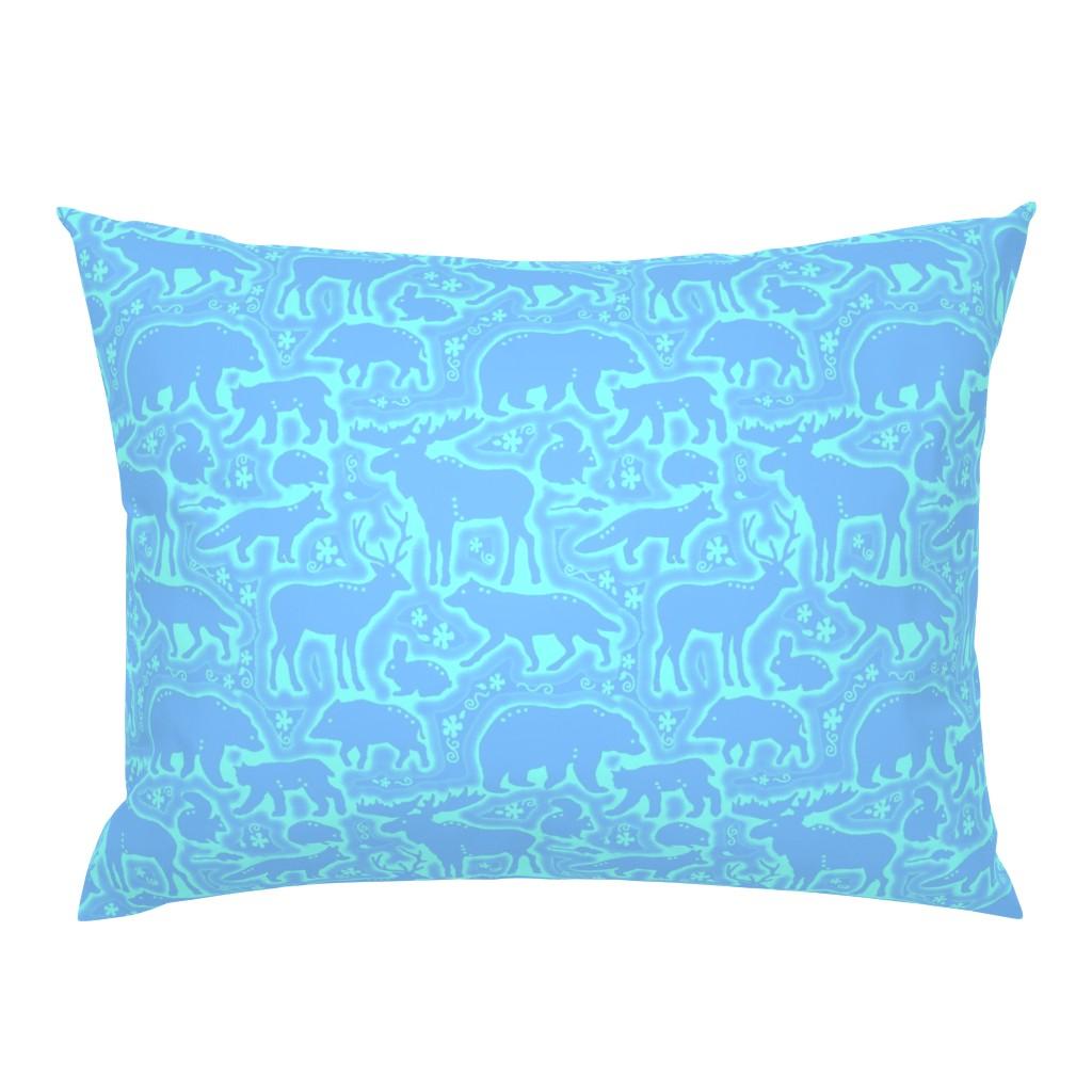 Campine Pillow Sham featuring Wild Collage by adrianne_vanalstine