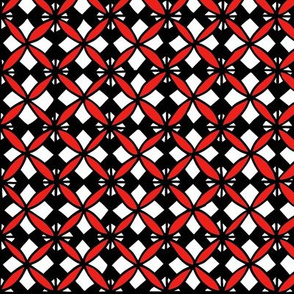 Tiled Lily - Red and Black