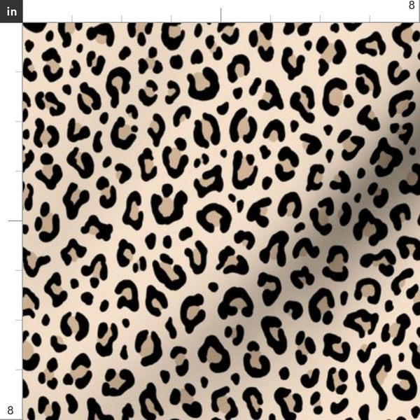 5860 Leopard Patterned Soft Wool Dobby Print Thin Woven Light-Weight Fabric by the YardBC-4078SP D#5