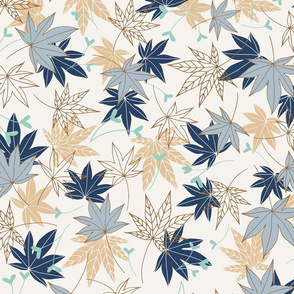 Maple Leaves Navy