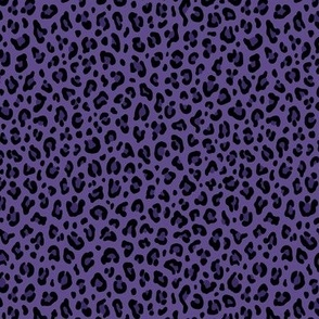★ PSYCHOBILLY LEOPARD – LEOPARD PRINT in PURPLE (Ultra Violet) ★ Tiny Scale / Collection : Leopard Spots – Punk Rock Animal Print