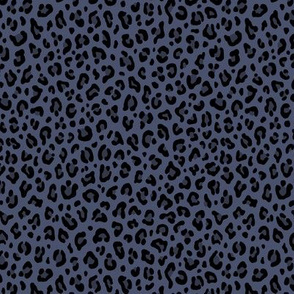 ★ BRUT DENIM LEOPARD ★ Leopard Print in Dark Indigo Blue - Tiny Scale / Collection : Leopard spots – Punk Rock Animal Print
