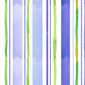 Periwinkle and Lime Stripe