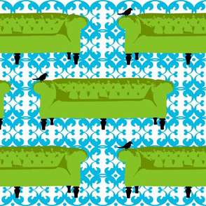 Tufted Tweets Couches Green
