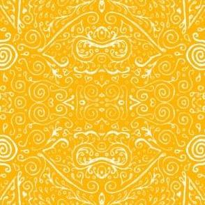 bridal mendhi - saffron
