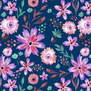Wildflower Summer in Midnight - SMALL