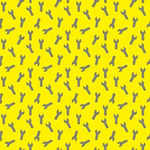 Spanners on yellow