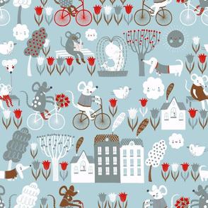 Cycling – blue theme