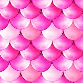 Watercolor Mermaid scales pink