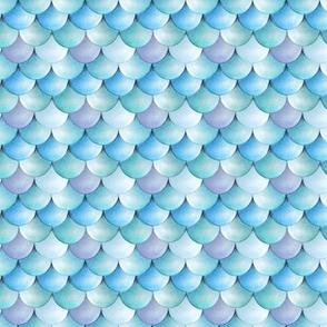 Mermaid scales watercolor