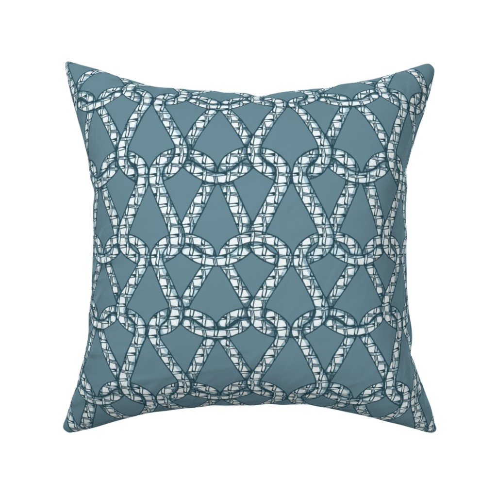 Catalan Throw Pillow featuring endless knots gray 50 by chicca_besso