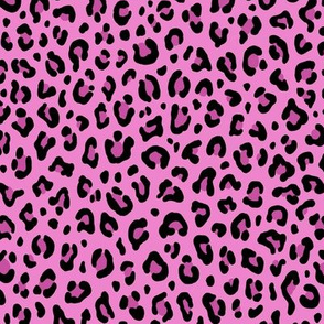 ★ CUSTOM LEOPARD PRINT - FUCHSIA PINK ★ Small Scale / Collection : Leopard spots – Punk Rock Animal Prints